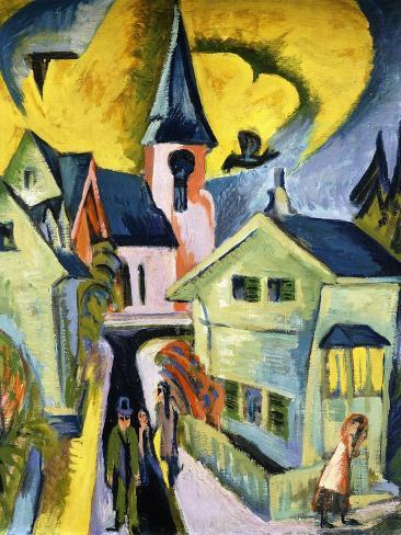 Konigstein with Red Church Giclee Print