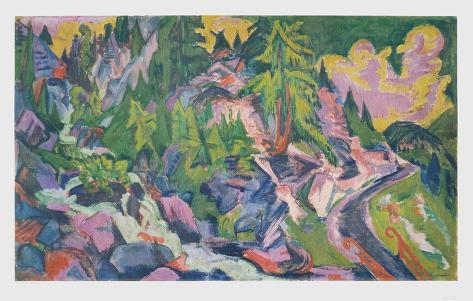 Scenery in the Mountains Collectable Print