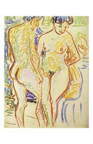 Standing Nude Couple Art Print