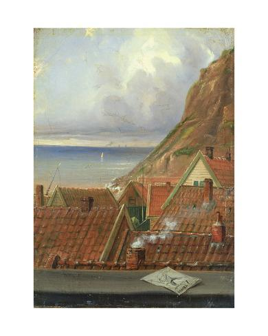 View from a Window of Helgoland Stretched Canvas Print