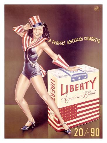 American Liberty Cigarette Giclee Print