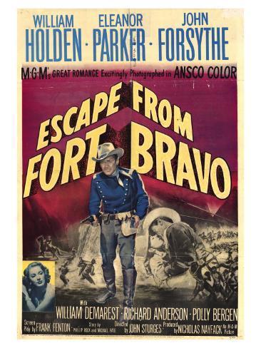 Escape from Fort Bravo, 1953 Art Print