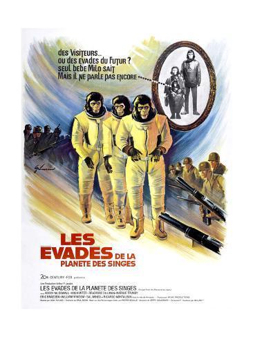 Escape From The Planet of the Apes, (aka Les Evades De La Planete Des Singes), 1971 Impressão giclée