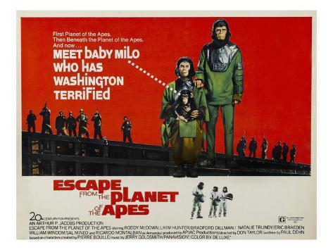 Escape From The Planet of the Apes, Kim Hunter, Roddy McDowall, 1971 Photo