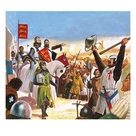 Richard the Lionheart Arriving at Acre Giclee Print