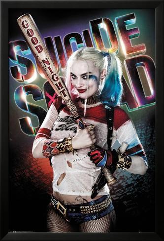 Escuadrón Suicida - Harley Quinn Póster enmarcado con plástico protector