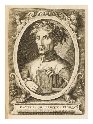 Dante Alighieri Italian Writer Giclee Print