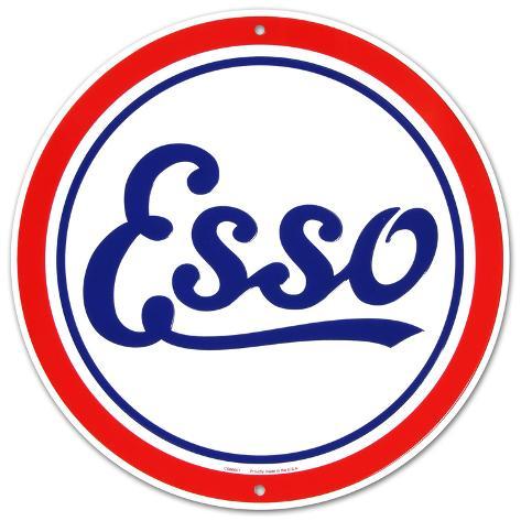 Esso Oil Gasoline Logo Round Peltikyltti