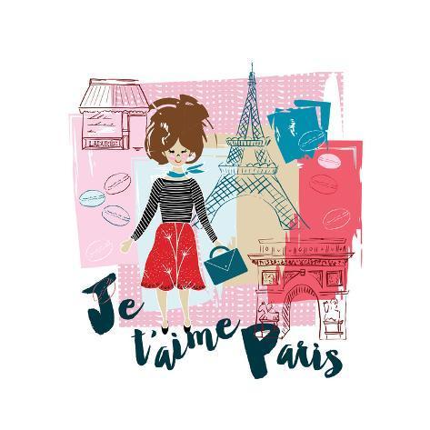J t'aime Paris Art Print