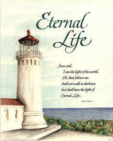 Eternal Life (Lighthouse) Art Print Poster Póster