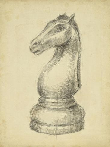 Antique Chess IV Art Print