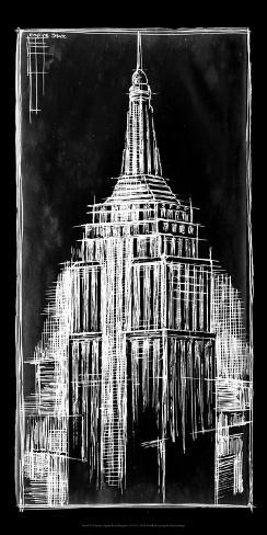 Empire state blueprint posters by ethan harper allposters empire state blueprint malvernweather Image collections