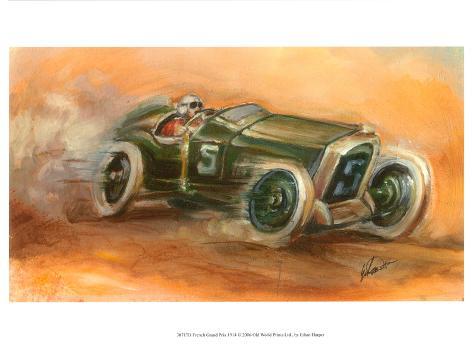 French Grand Prix, 1914 Art Print