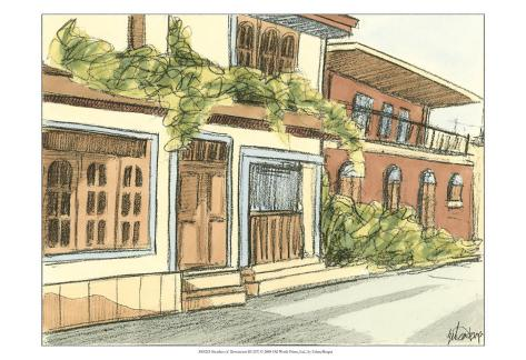 Sketches of Downtown III Art Print
