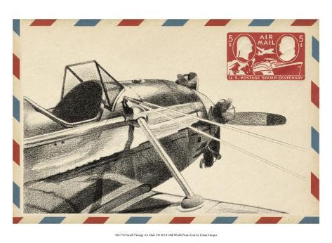 Small Vintage Airmail I Art Print