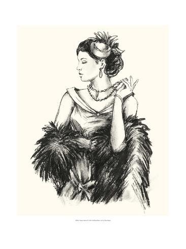 Vintage Fashion II Art Print