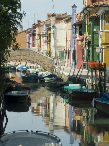 Burano, Island Near Venice, Veneto, Italy Photographic Print