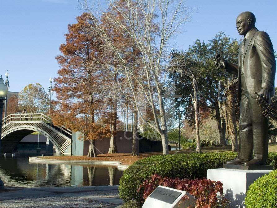 Louis Armstrong Park, New Orleans, Louisiana, USA Lámina fotográfica ...