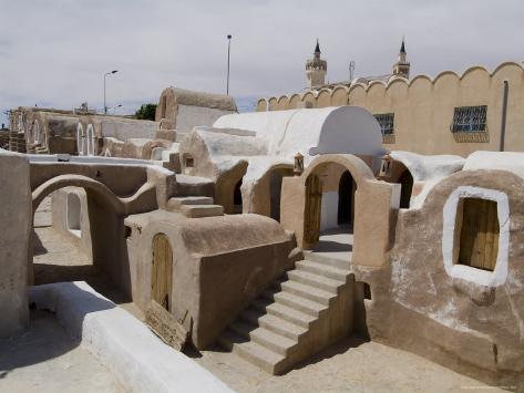 Old Berber Grain Storage Units, Site of Star Wars Film, Now a Hotel, Ksar Hedada, Tunisia Photographic Print