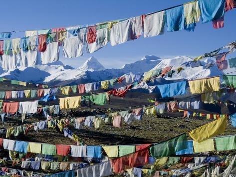 Prayer Flags, Himalayas, Tibet, China Photographic Print
