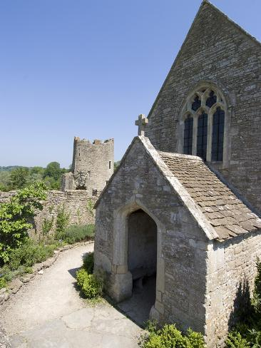 The Chapel of the 14th Century Farleigh Hungerford Castle, Somerset, England, UK, Europe Photographic Print
