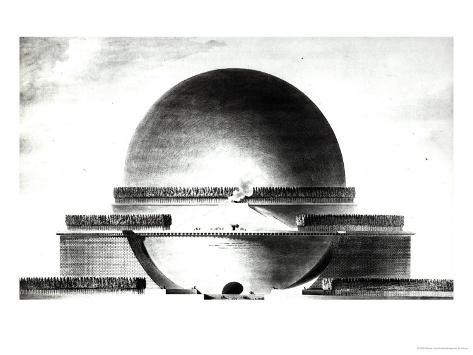 Design for Newton's Cenotaph, 1764 Giclee Print