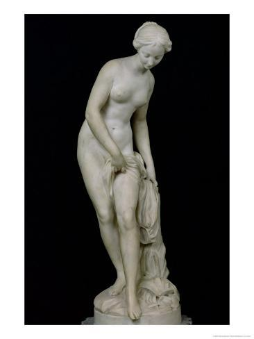 Bather Getting into a Bath, 1757 Giclee Print