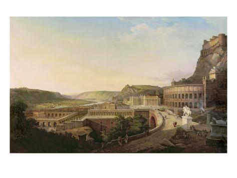 View of Vienna in Roman Times, 1860 Giclee Print