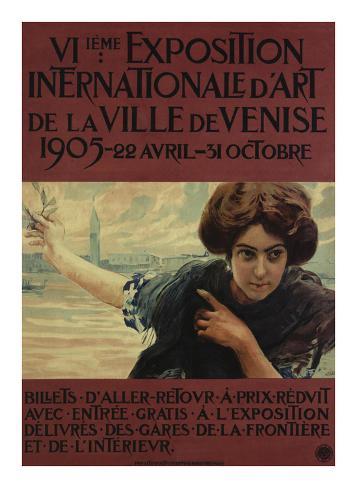 VIieme Exposition Internationalle d'Art de la Ville de Venise Art Print