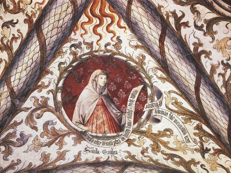 Euboean Sibyl Fresco in Loggia of Santa Maria Di Castello Church, Genoa, Italy, 10th Century Giclee Print