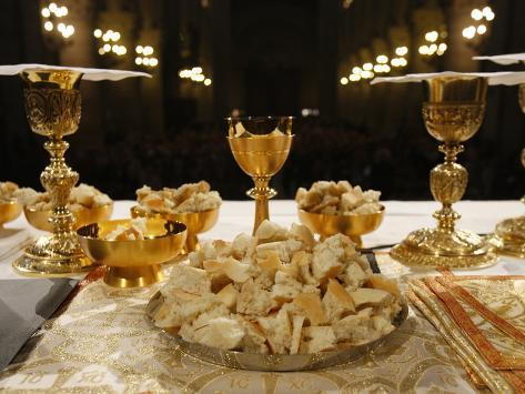 Eucharist in Notre Dame Cathedral, Paris, France, Europe Photographic Print