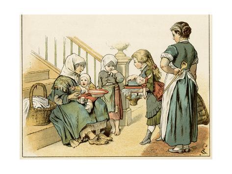 Feeding German Poor Stampa giclée