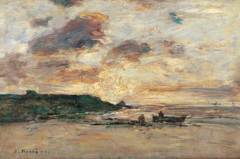 Coast at Trouville Lámina