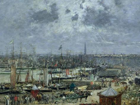 The Port of Bordeaux, 1874 Giclee Print