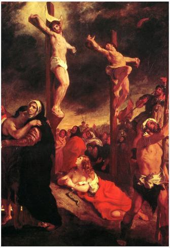 Eugene Delacroix Christ at the Cross Art Print Poster Póster