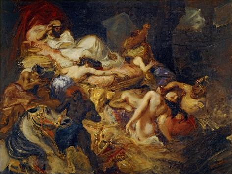 Death of Sardanapalus (Studi) Lámina giclée