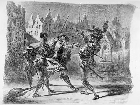 Duel between Faust and Valentine, from Goethe's Faust, after 1828 Lámina giclée