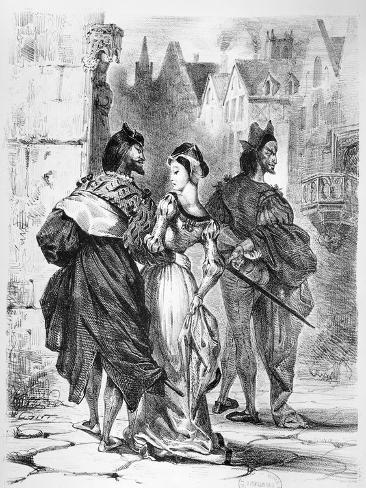 Faust Meeting Marguerite, from Goethe's Faust, after 1828 Lámina giclée