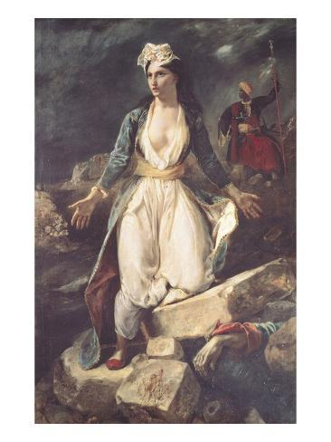 Greece Expiring on the Ruins of Missolonghi, 1826 Giclee Print