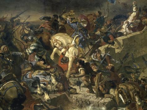 La Bataille de Taillebourg Giclee Print