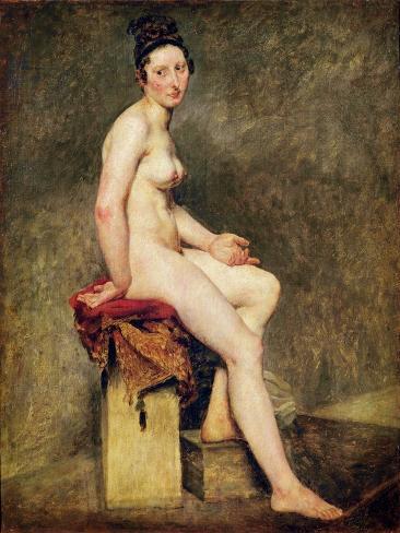 Seated Nude, Mademoiselle Rose Giclee Print