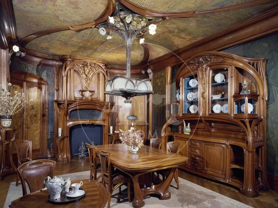 Art Nouveau Style Dining Room 1903 1906 Giclee Print By Eugene Vallin At AllPosters