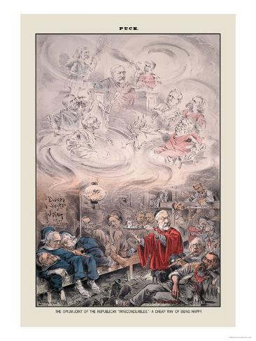 Puck Magazine: The Opium-Joint of the Republican Art Print