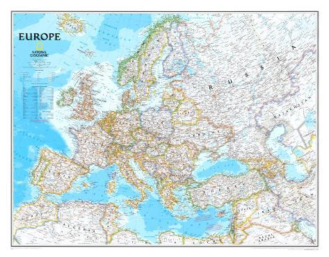 Europe Political Map Poster