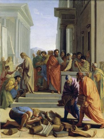 Saint Paul Preaching In Ephesus Giclee Print By Eustache