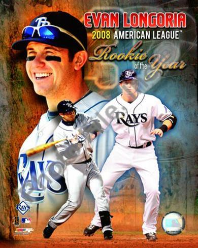 Evan Longoria 2008 American League Rookie Of The Year Photo