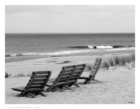 Seaside Seating Art Print
