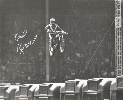 Evel Knievel (motorcycle Stuntman) -Wembley Stadium Autographed Photo (Hand Signed Collectable) Photo