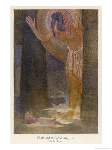 In the Temple the Chief Magician is Visited by the God Thoth in a Dream Giclee Print