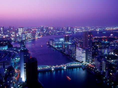 Evening View of River Sumida Photographic Print